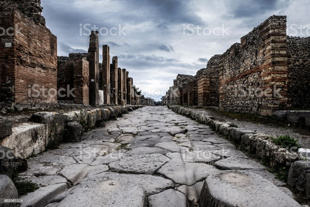 Ruins of Pompei stock photo