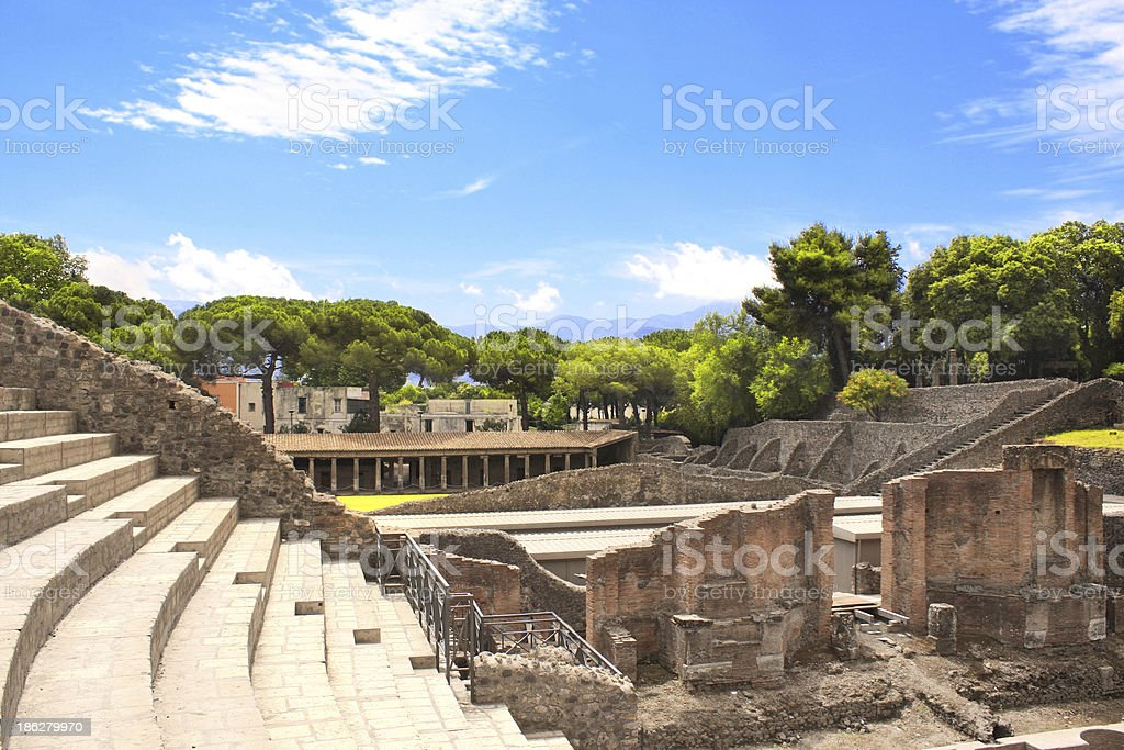 Ruins of Pompeii royalty-free stock photo