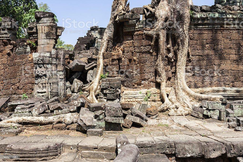 Ruins of Preah Khan stock photo