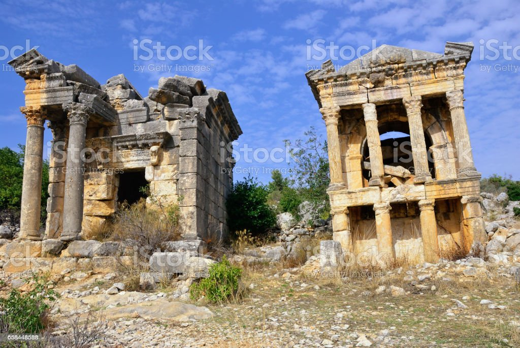 Ruins of Roman city Imbriogon stock photo