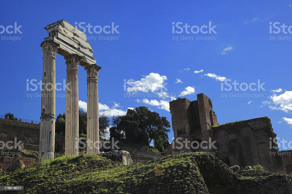 Ruins of Rome Forum royalty-free stock photo