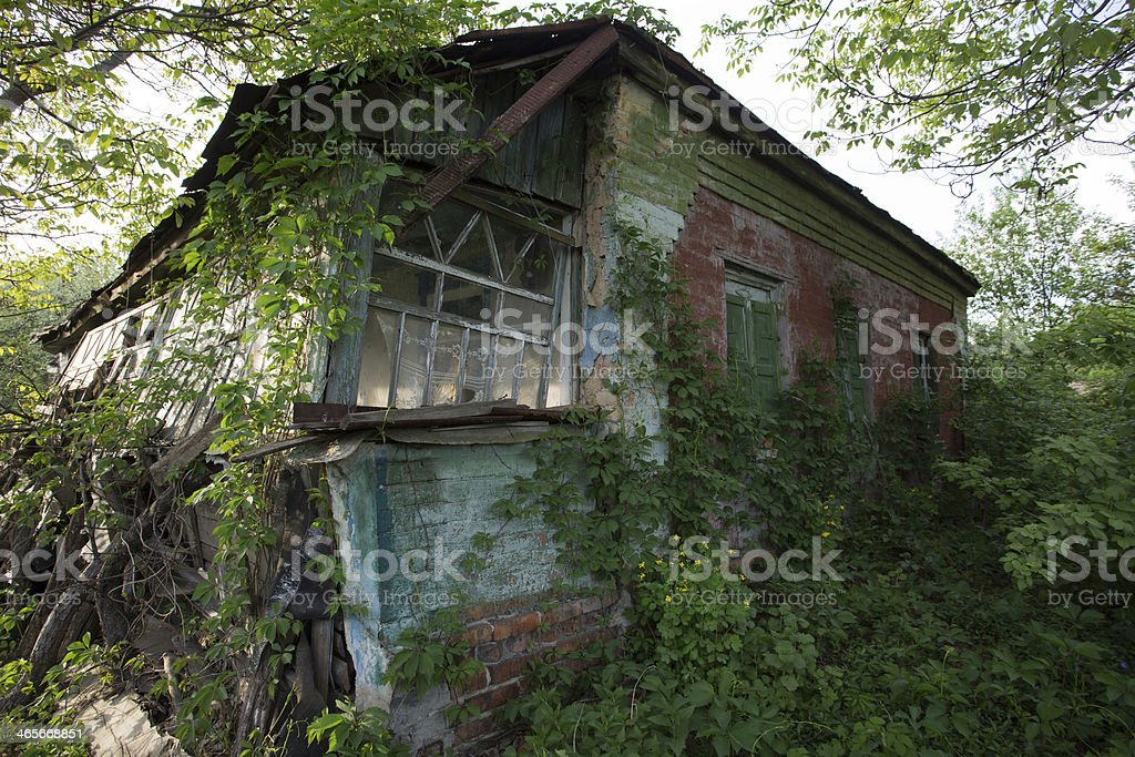 ruins of rural house royalty-free stock photo
