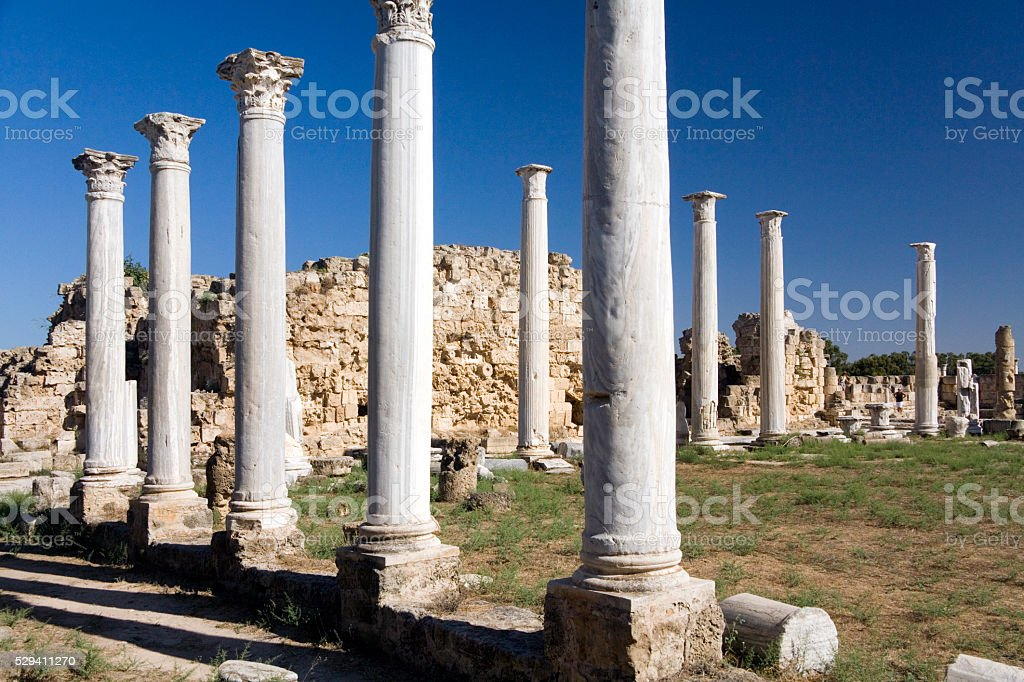 Ruins of Salamis - Turkish Republic of Northern Cyprus stock photo