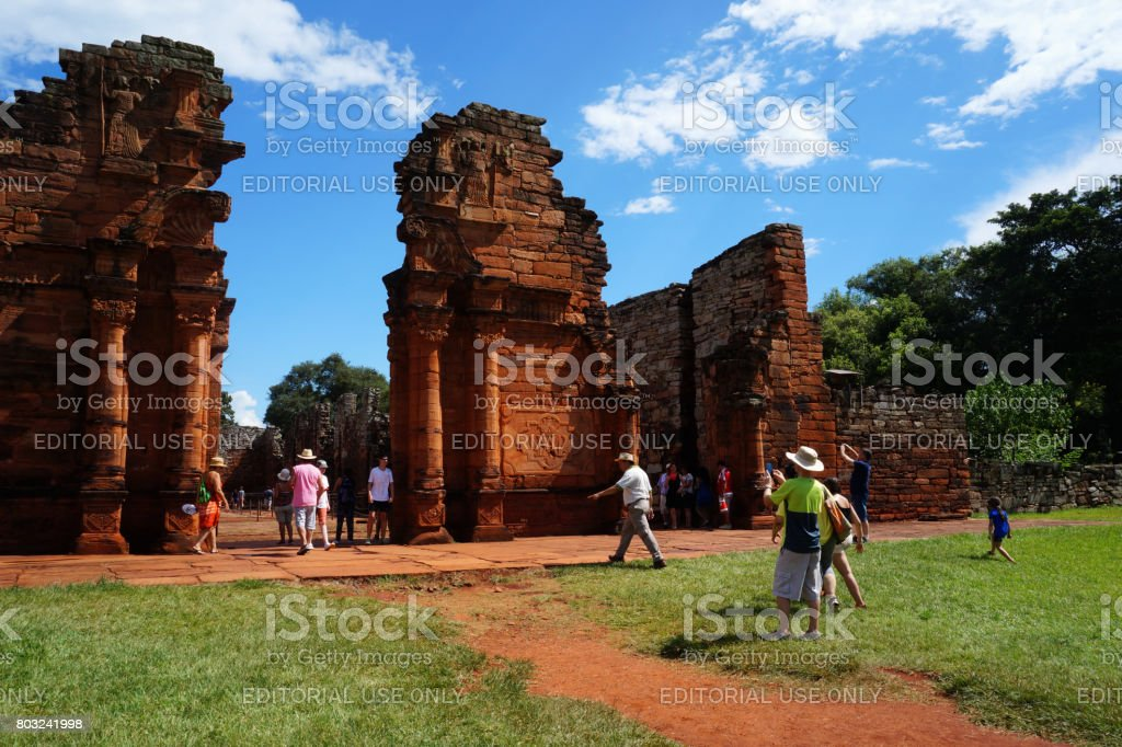 Ruins of San Ignacio stock photo