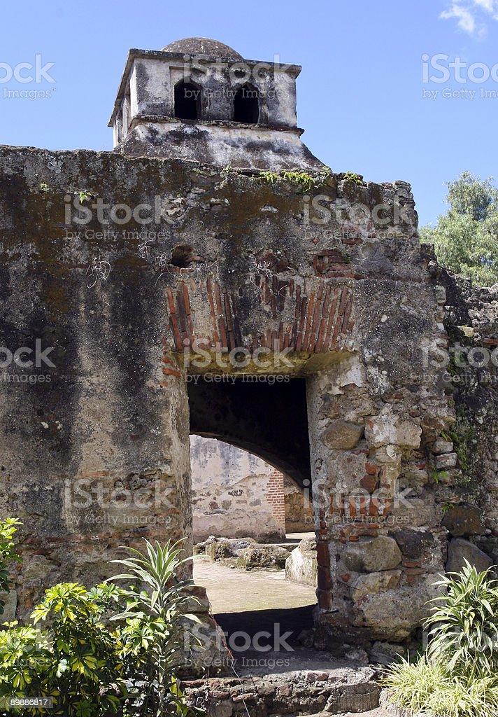 Ruins of Santa Clara Convent Anigua, Guatemala royalty-free stock photo