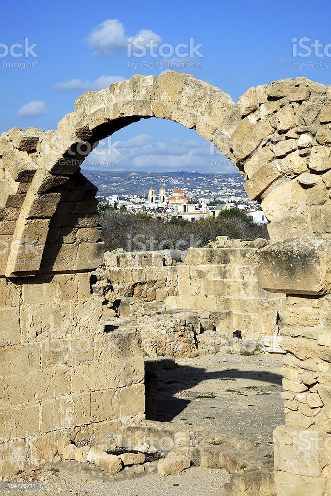 Ruins Of Saranda Kolones, Paphos, Cyprus stock photo