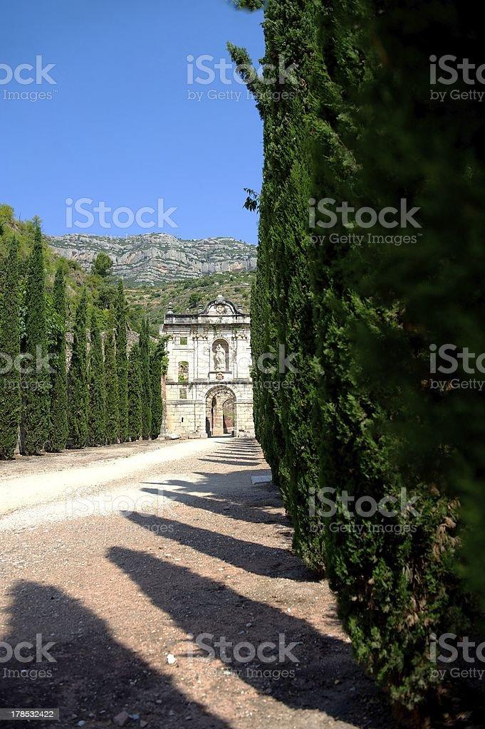 Ruins of Scala Dei monastery, Priorat (aka Priorato), Spain royalty-free stock photo