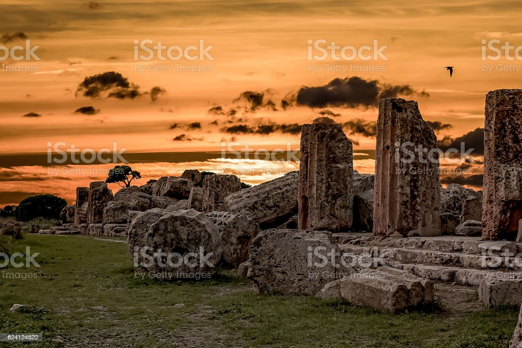 Ruins of Selinunte stock photo