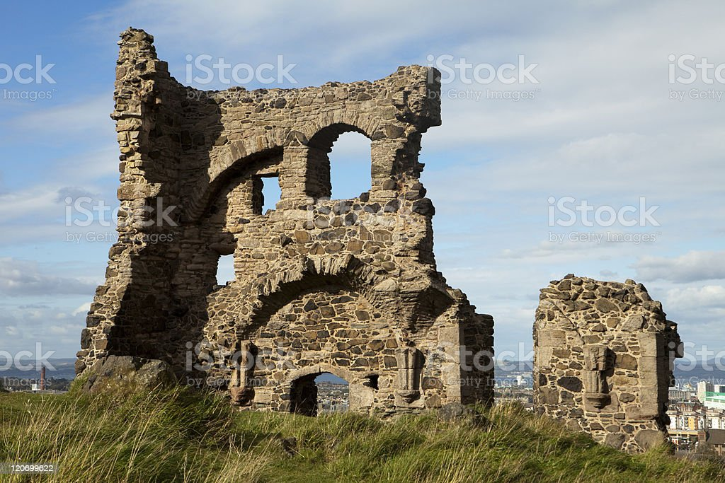 Ruins of St. Anthony's Chapel royalty-free stock photo
