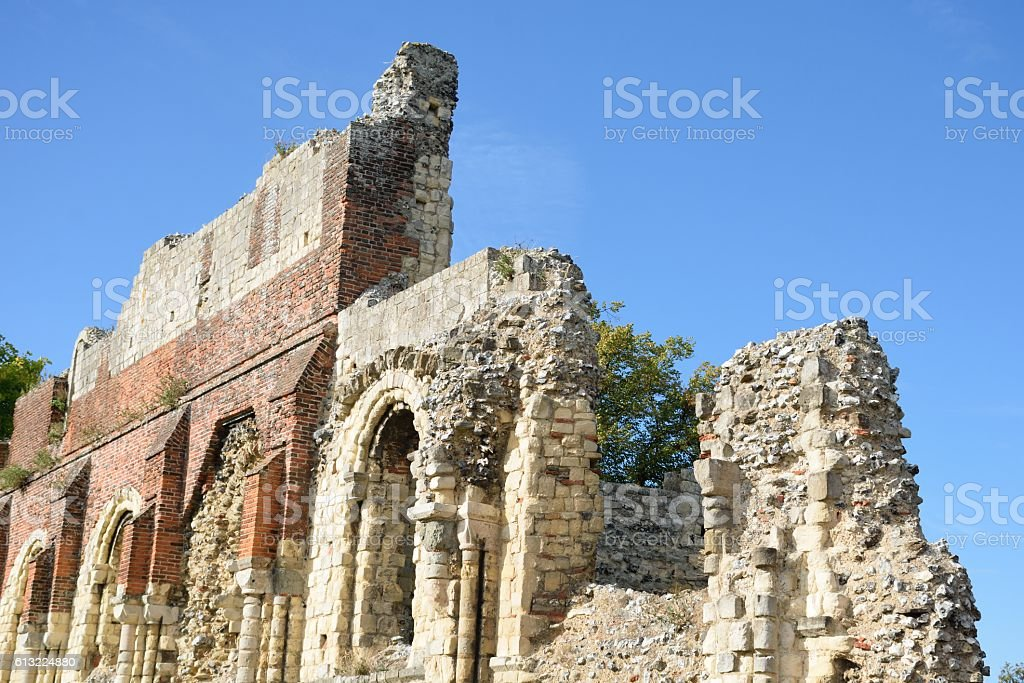 Ruins of St Augstines abbey Canterbury stock photo
