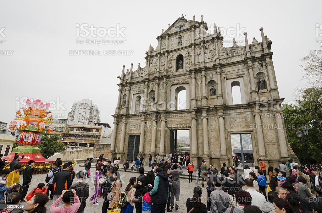 Ruins of St. Paul's in Macau royalty-free stock photo