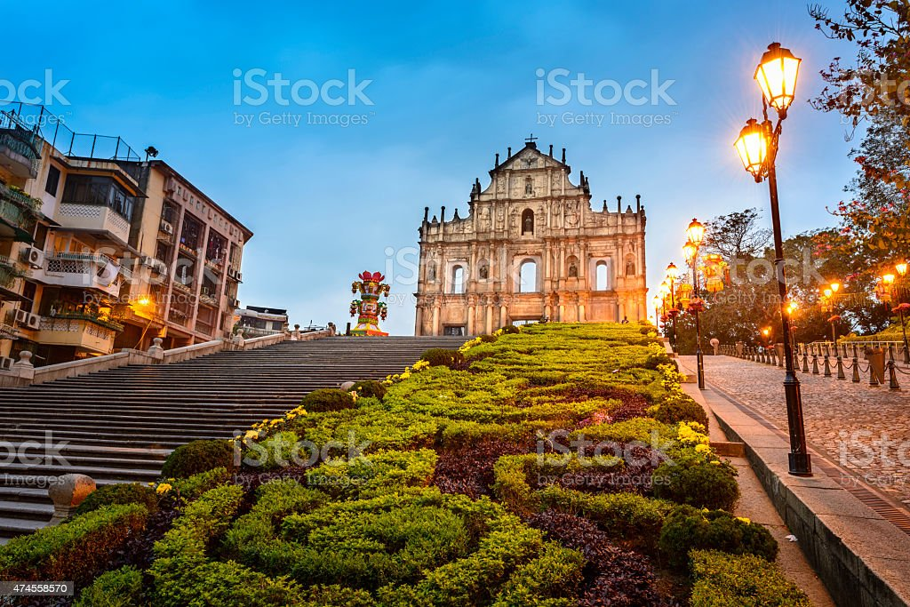 Ruins of St. Paul's stock photo