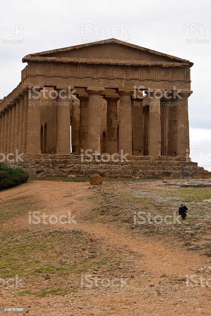 Ruins of Temple of Concordia, Agrigento stock photo