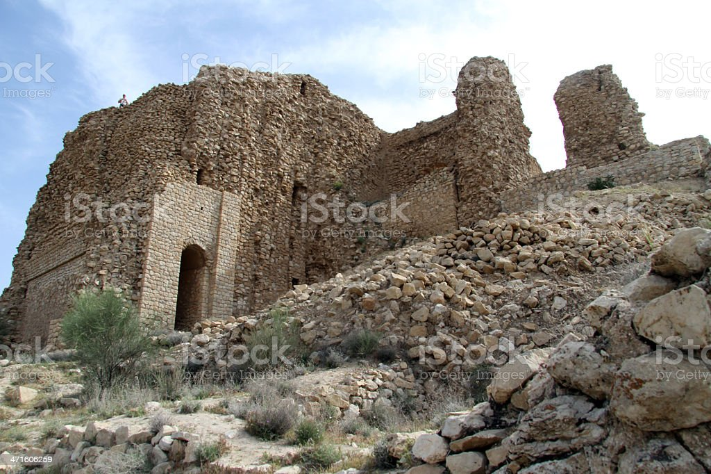 Ruins of temple stock photo