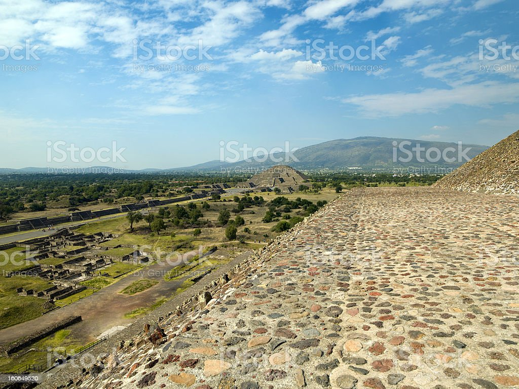 Ruins of Teotihuacan Mexico city royalty-free stock photo