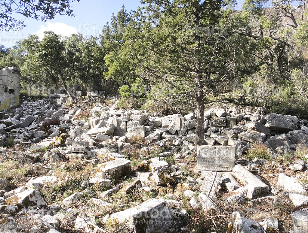 Ruins of Termessos stock photo