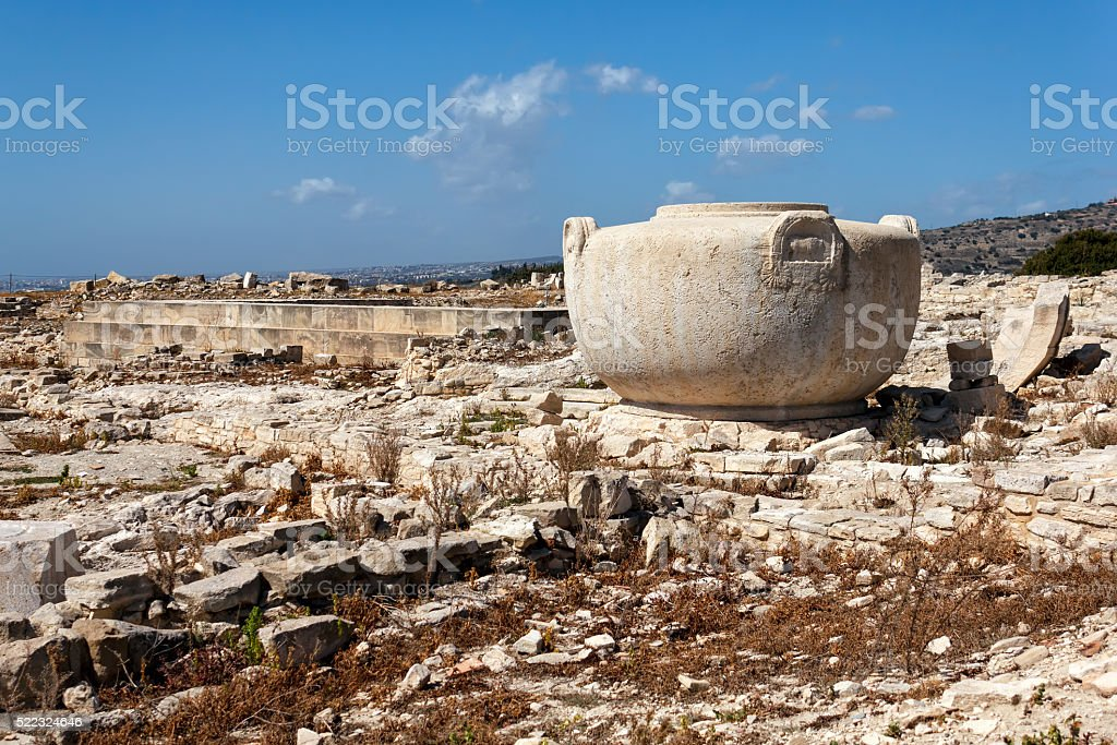 Ruins of the ancient city of Amathus, near Limassol, Cyprus stock photo