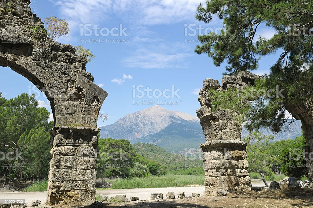 ruins of the ancient city stock photo