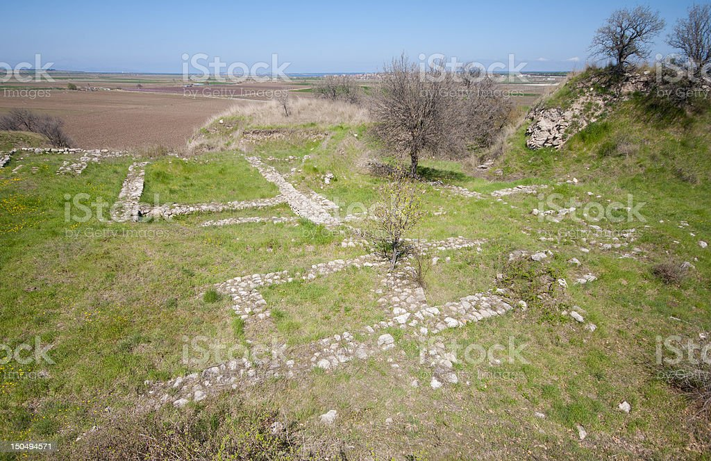 Ruins of the ancient city, Troy royalty-free stock photo