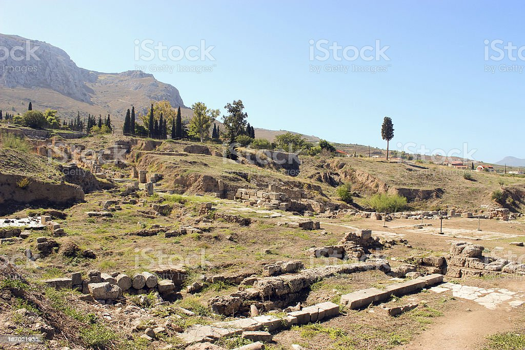 Ruins of the Ancient Corinth - Greece royalty-free stock photo