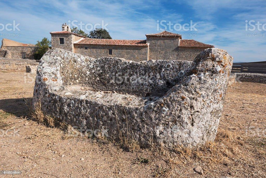 Ruins of the ancient roman colony Clunia Sulpicia. stock photo