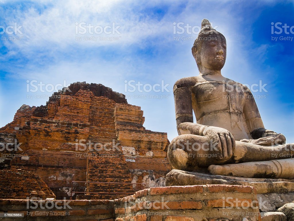 Ruins of the ancient Thai stock photo