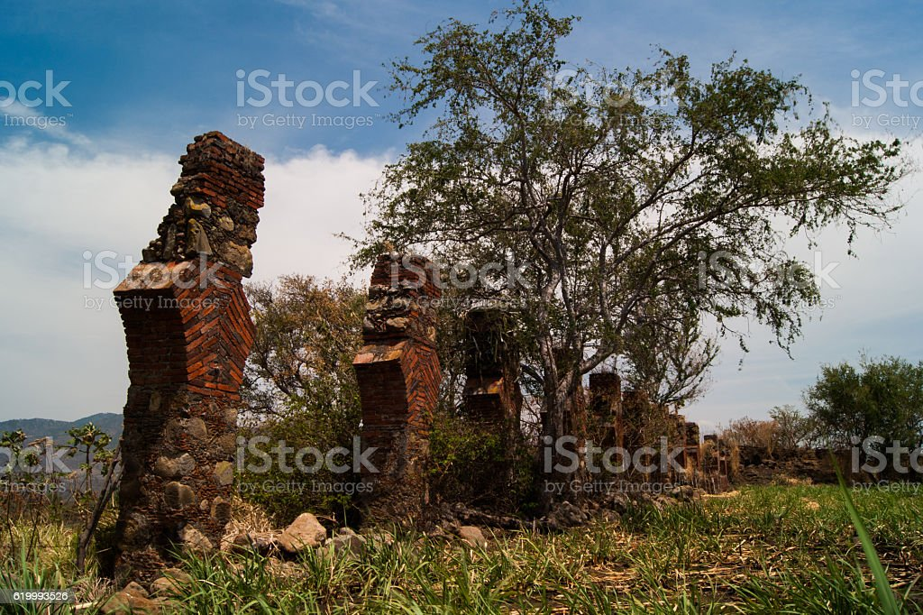 Ruins of the antique water transportation system stock photo