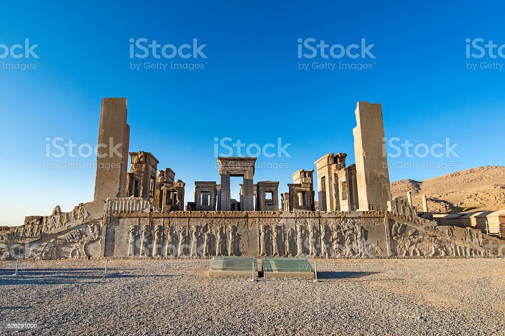 Ruins of the Apadana, Persepolis, Iran stock photo