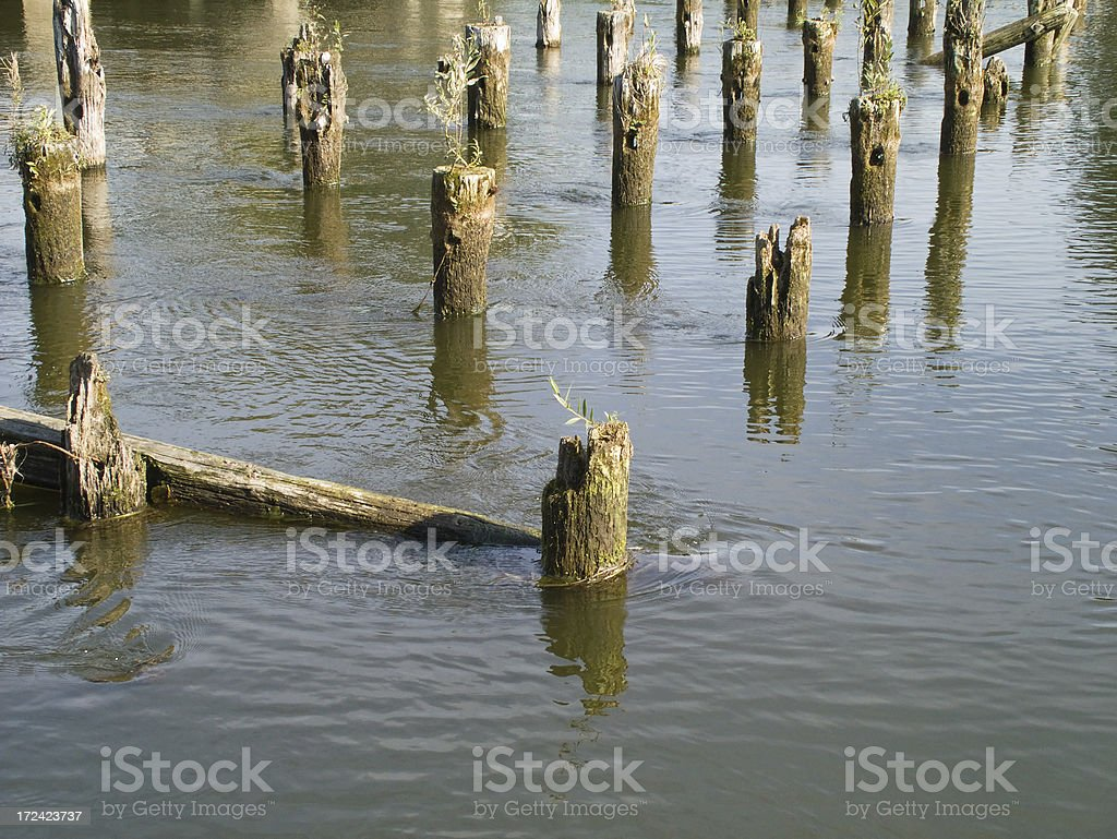 Ruins of the bridge royalty-free stock photo
