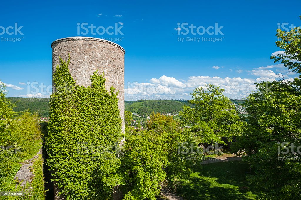 Ruins of the castle Hohennagold in Nagold stock photo