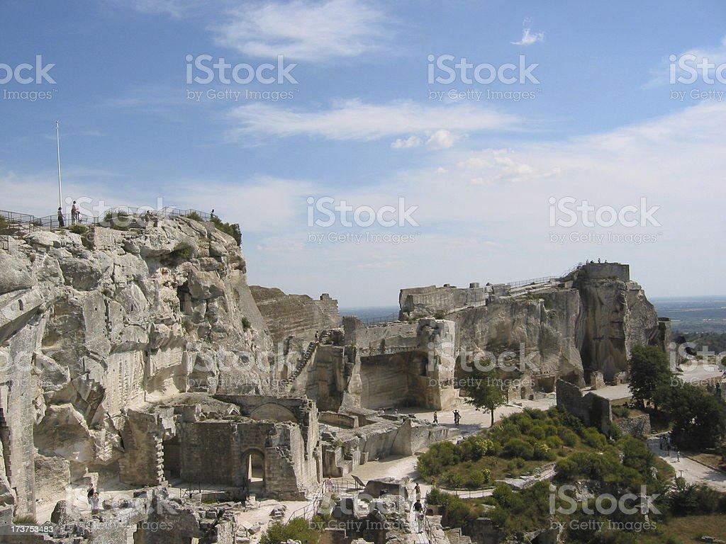 Ruins of the Castle of Les Baux de Provence, France stock photo