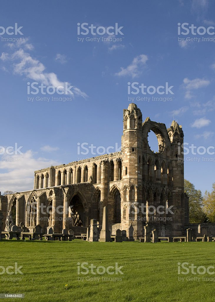Ruins of the Cathedral at Elgin, Scotland royalty-free stock photo