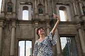 Ruins of the Church of St Paul Selfie