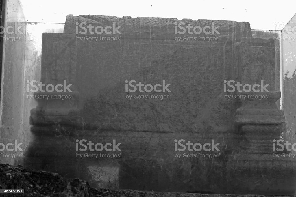ruins of the church St Augustine royalty-free stock photo
