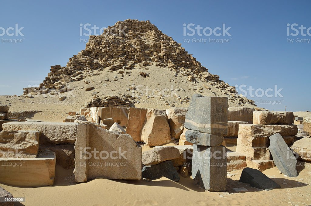 Ruins of the Egyptian pyramid stock photo