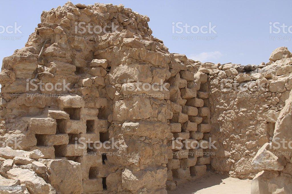 Ruins of the Fortress Masada stock photo