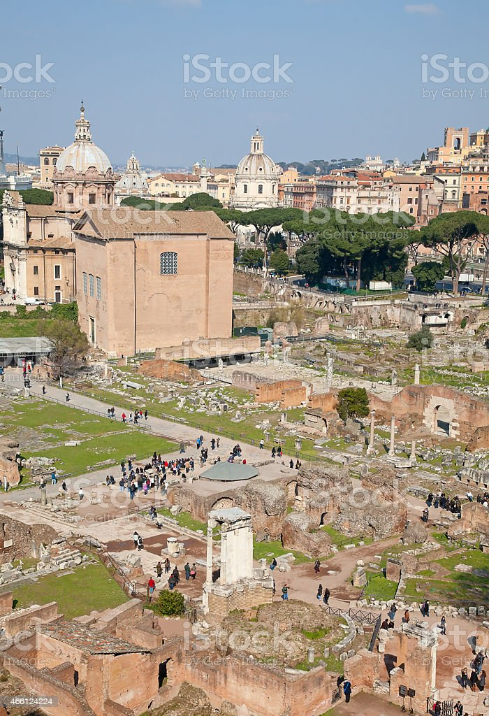 Ruins of the forum stock photo