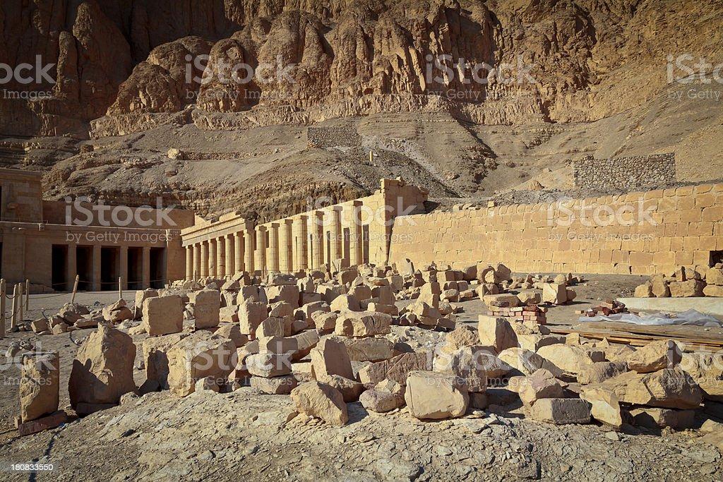 Ruins of the Hatshepsut's Temple, Egypt stock photo