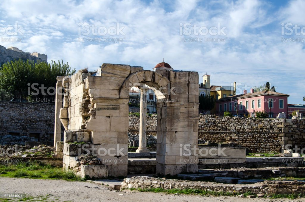 Ruins of the Library stock photo