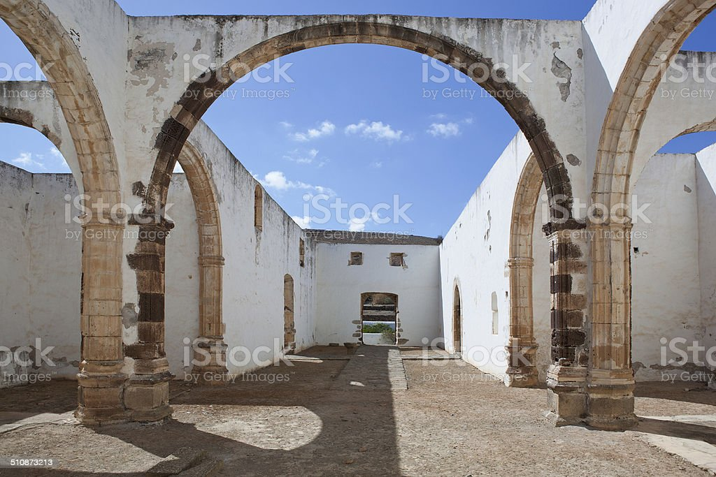 Ruins of the monastery of Betancuria royalty-free stock photo