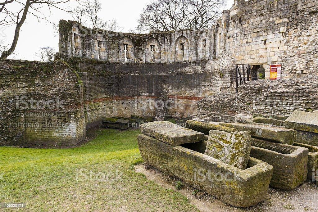 Ruins of the Multangular Tower in York, UK royalty-free stock photo