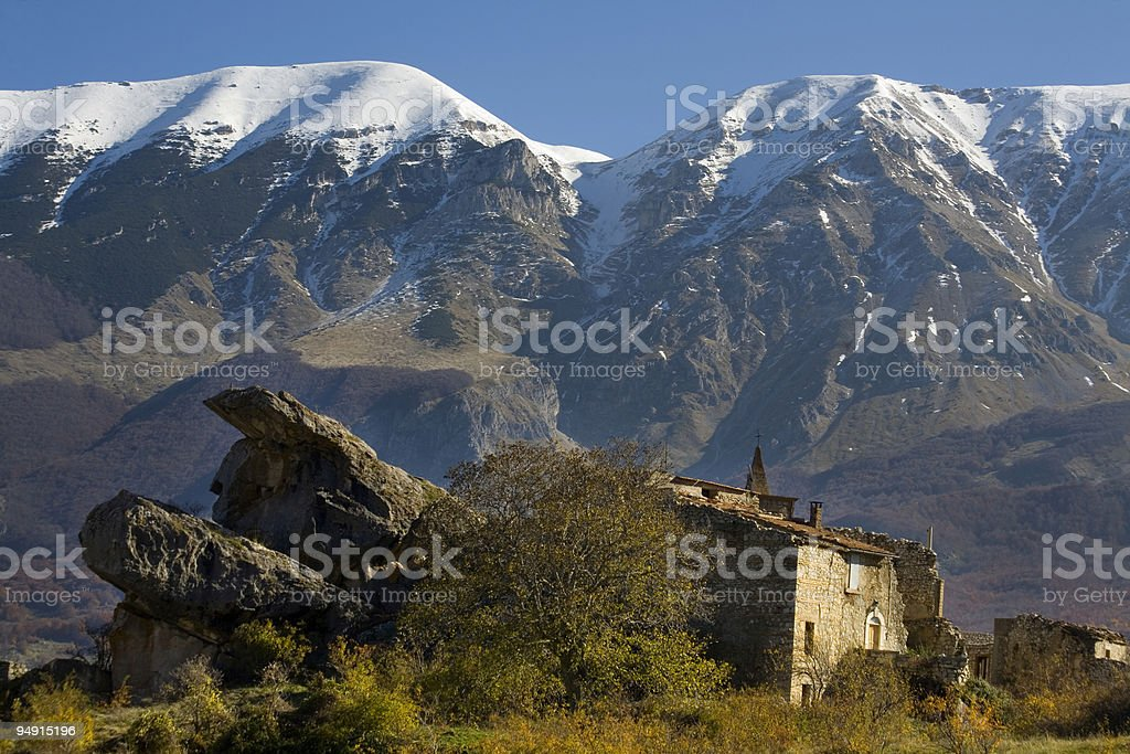 Ruins of the old church royalty-free stock photo