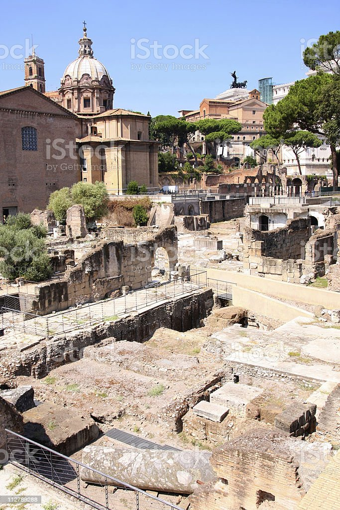Ruins of the Roman Forum, in Rome, Italy royalty-free stock photo