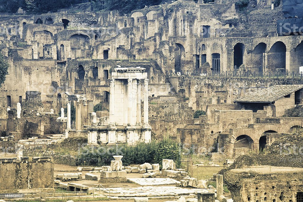 Ruins of The Roman Forum, Rome royalty-free stock photo