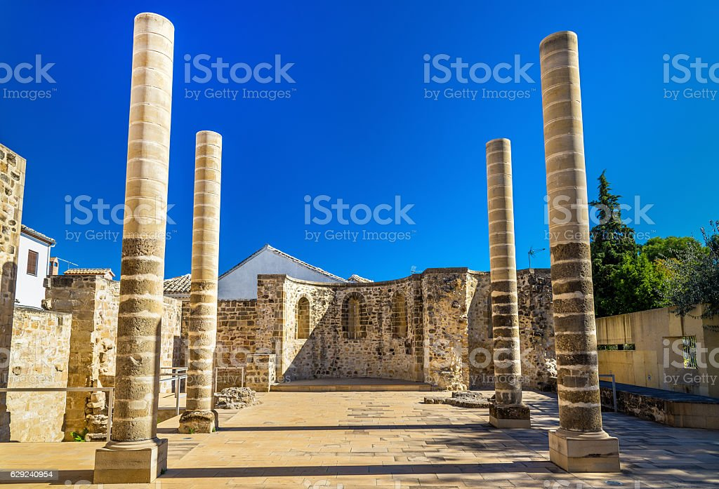 Ruins of the San Juan Bautista Church in Baeza, Spain stock photo