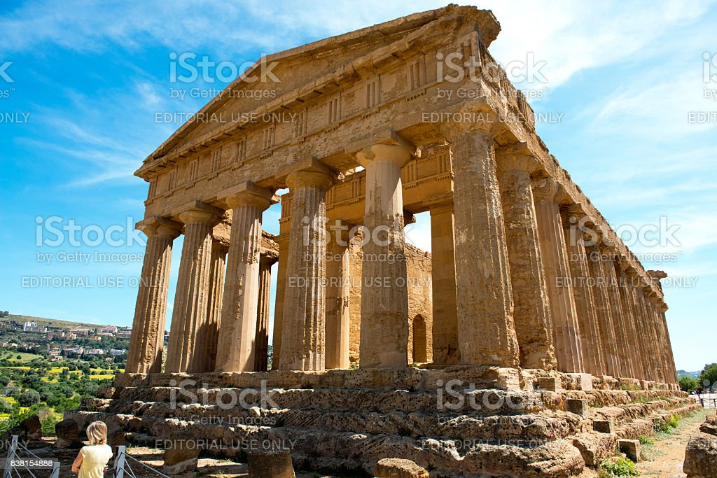 Ruins of The Temple of Concorde stock photo