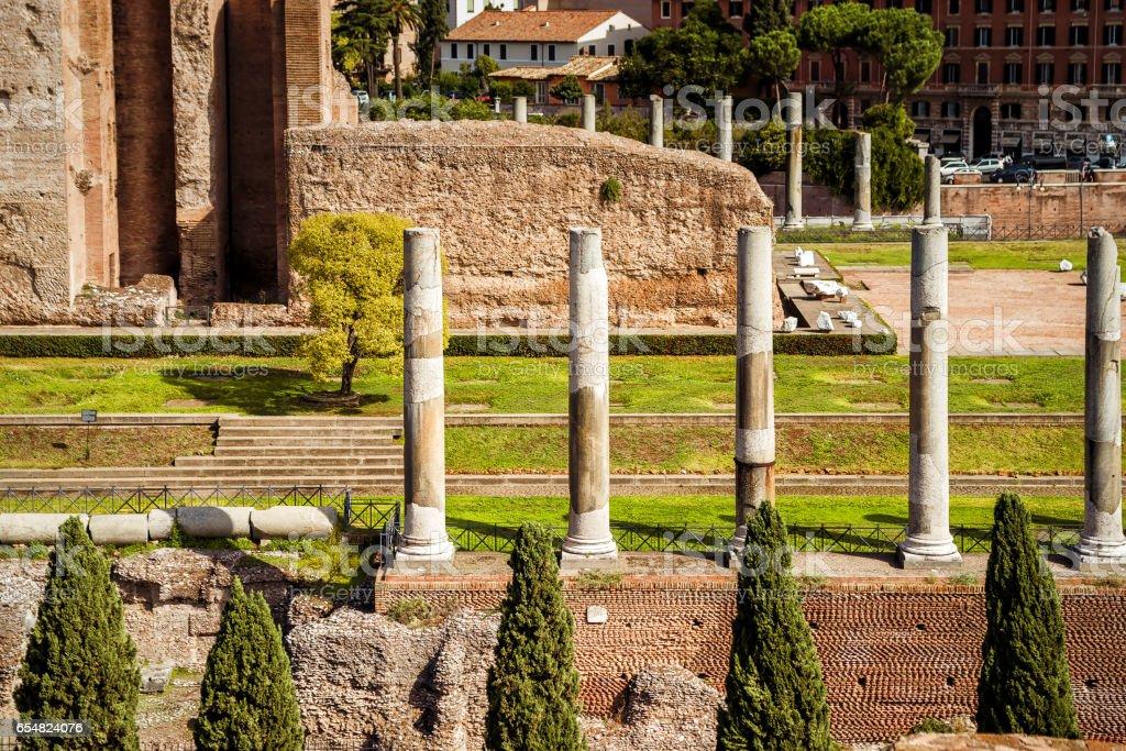 Ruins of the temple of Venus on Roman Forum, Rome stock photo