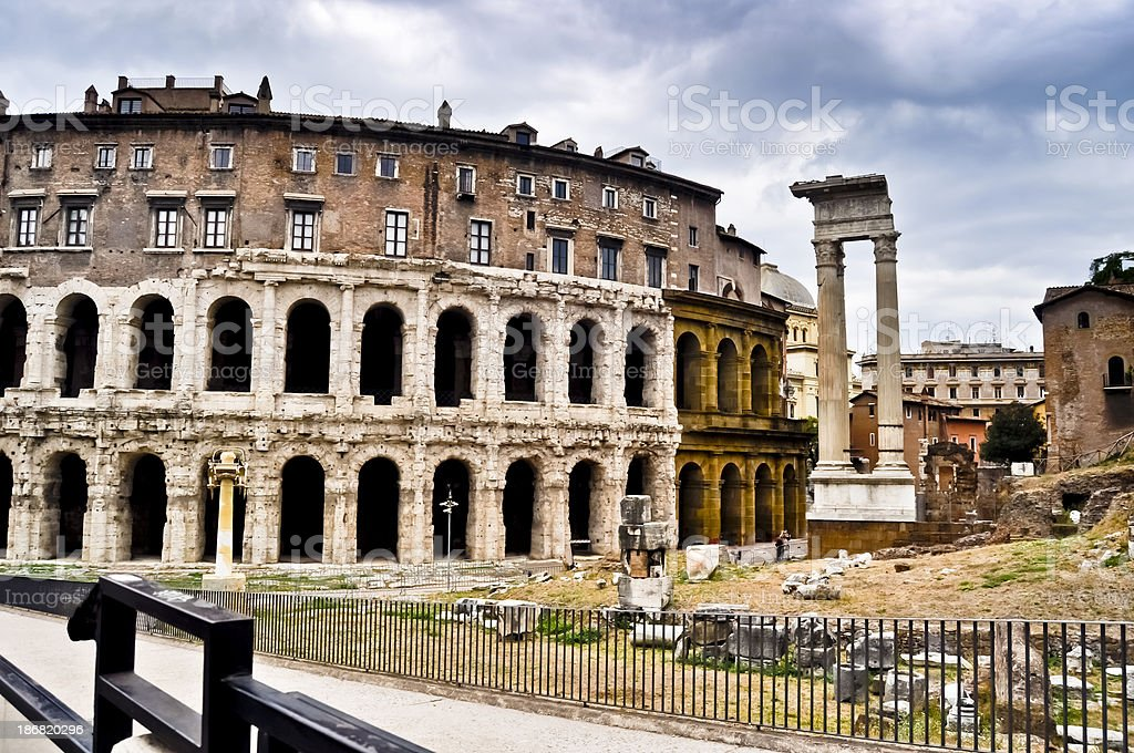 Ruins of the theatre Marcello royalty-free stock photo