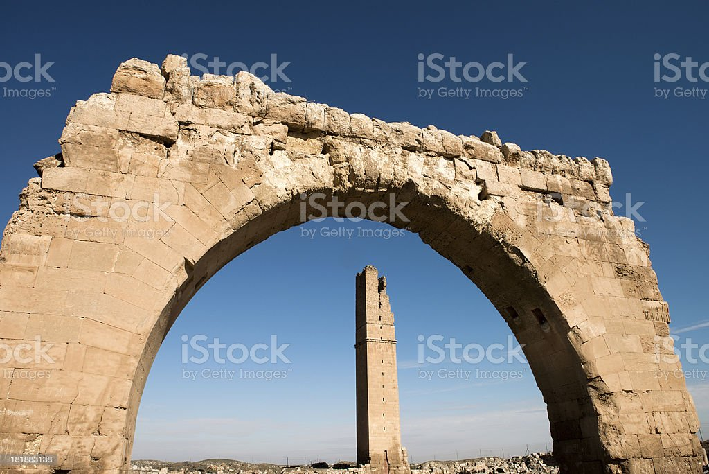 Ruins of the University at Harran, Turkey royalty-free stock photo