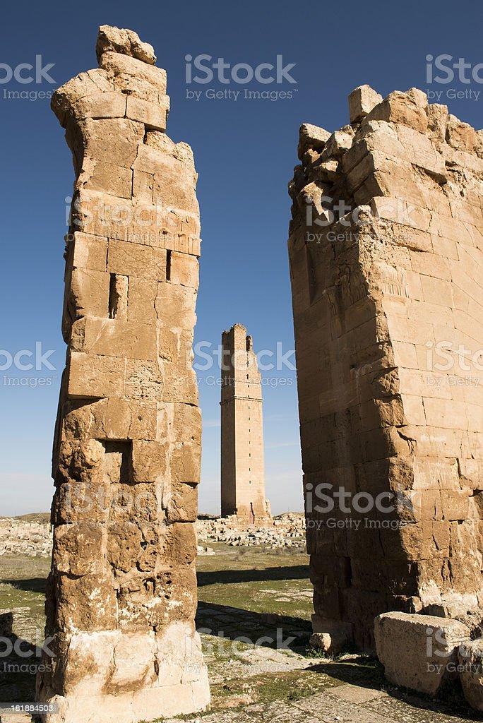 Ruins of the University at Harran, Turkey royalty-free stock photo